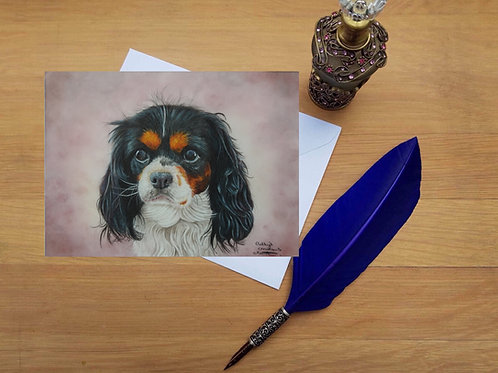 Willow the Cavalier King Charles Spaniel greetings card