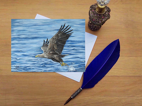 Beneath Eagle's wings greetings card