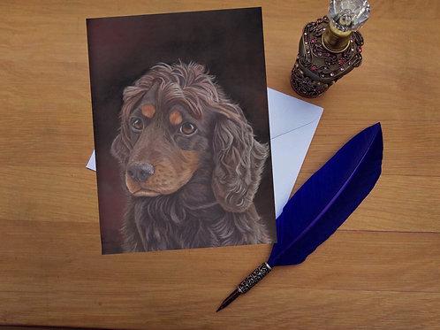 Coco the Cocker Spaniel greetings card