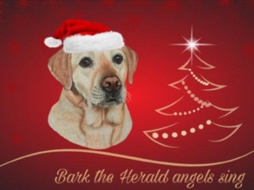 Yellow Labrador Christmas card