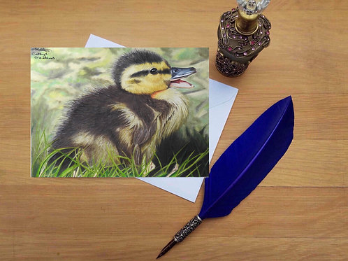 Laughing Duckling greetings card.