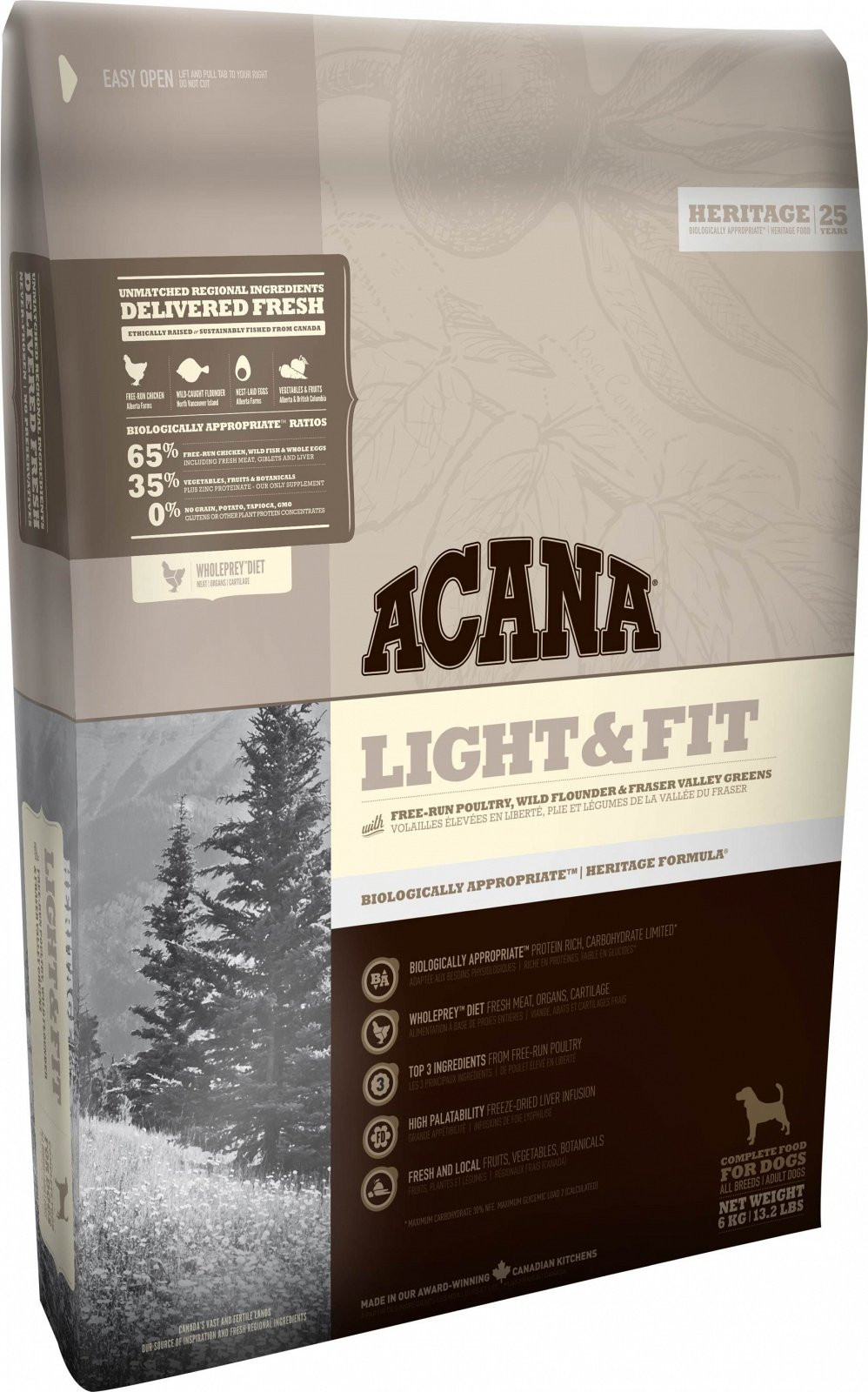 Hrana Uscata Acana Heritage Light & Fit 2 Kg