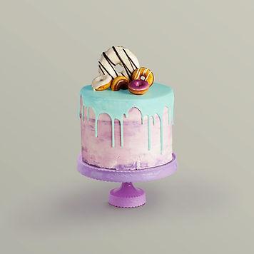 Torta decorata con Donuts