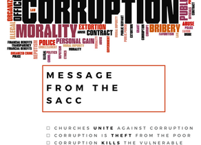 Message from the SACC on corruption