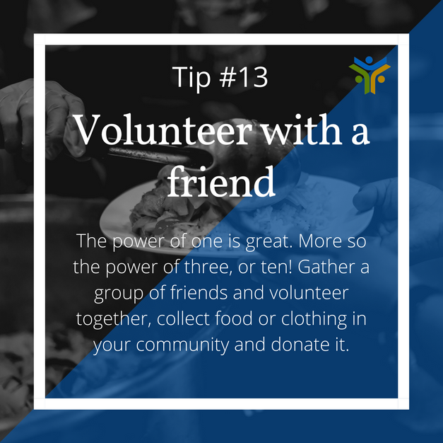 Volunteer with a friend