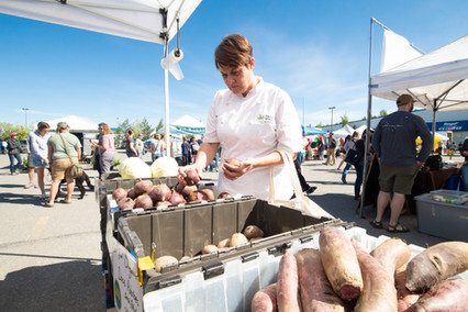 Chef Natalie at the market