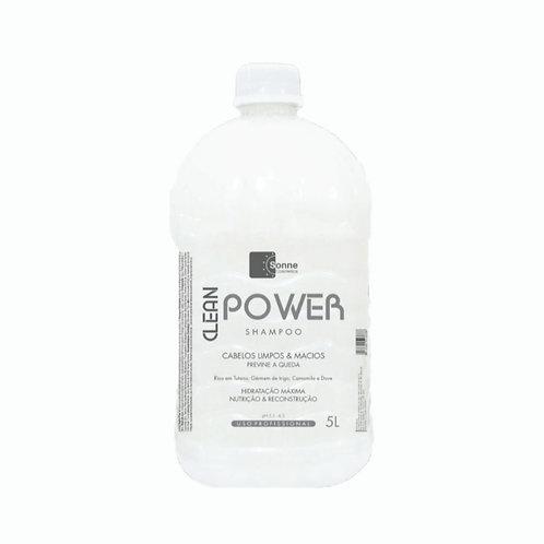 Shampoo Galão Clean Power shampoo 5 litros