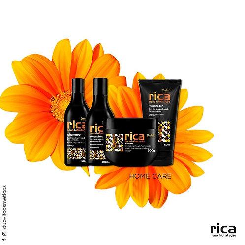 kit Rica Nano Hidratação com 4 itens