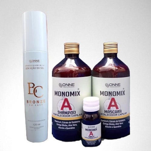 1 KIT MONOMIX A COM CHÁ DE GOIABEIRA + 1 BRONZE EM CASA 120ML
