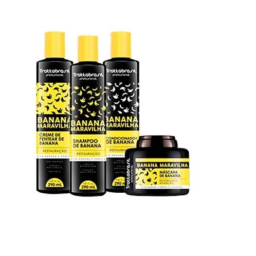 Kit Banana 4 Produtos Trattabrasil