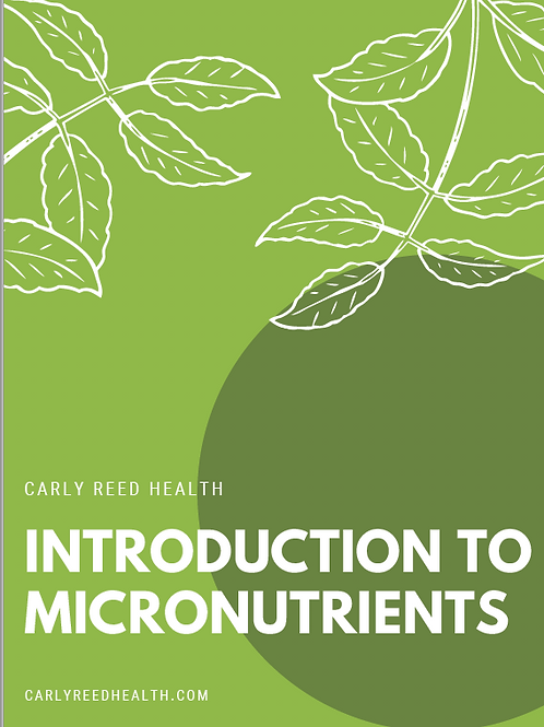 Introduction to Micronutrients