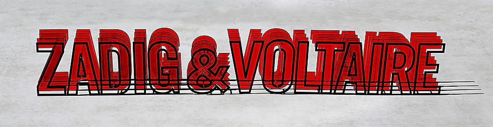 Logo installation zadig&voltaire