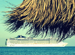 Canva - Cruise Ship Roaming on Body of W