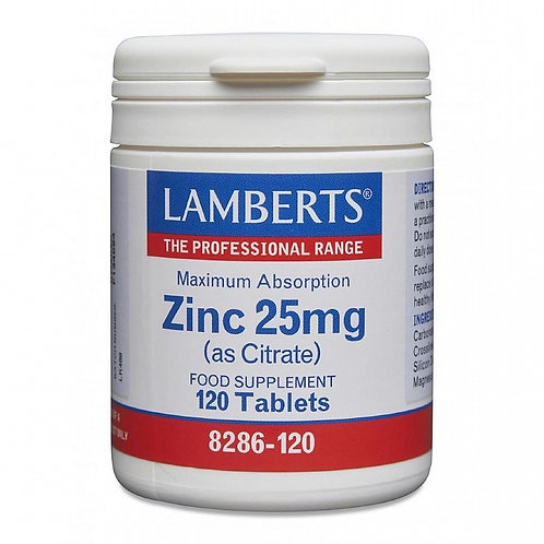 Zinc 25mg (as Citrate)