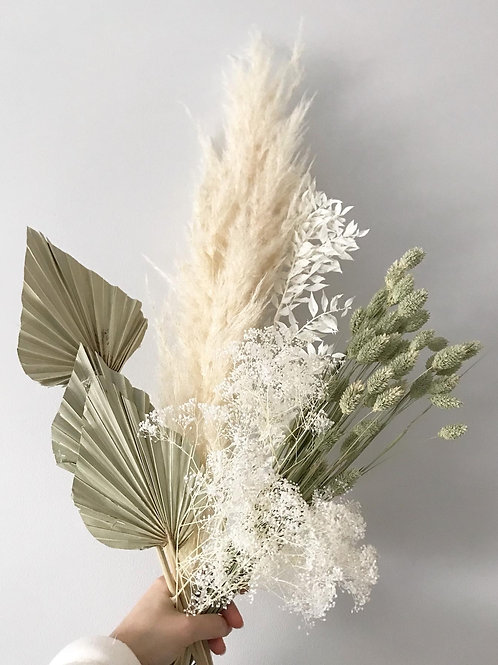 Dried preserved floral bouquet - Sage Green