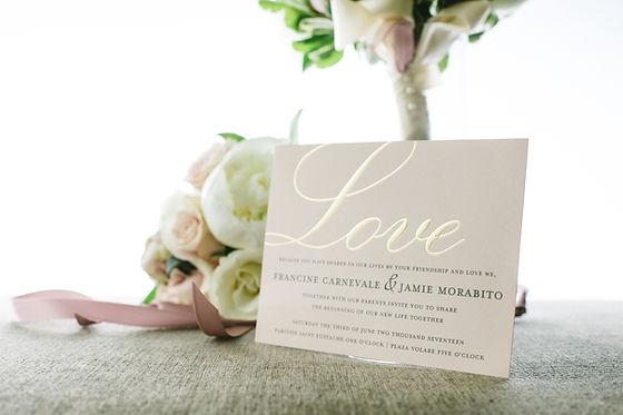 Wedding custom invitations stationary