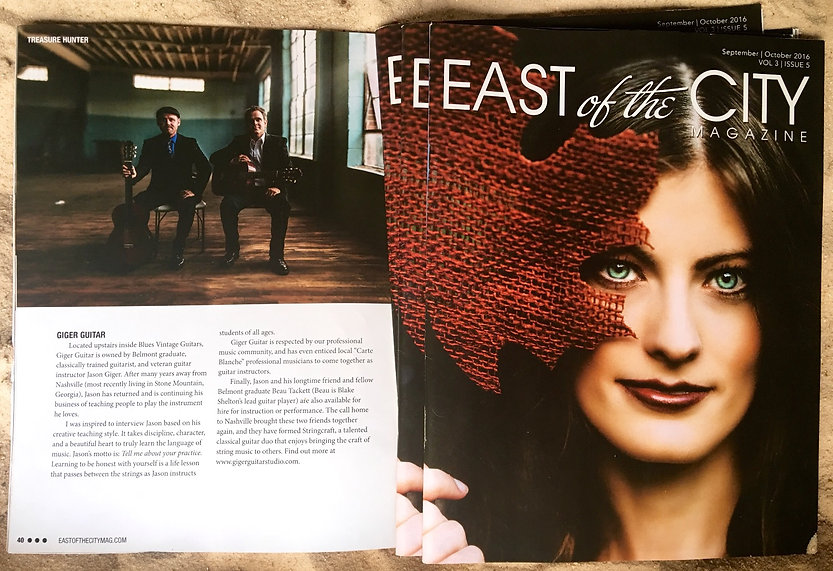 East of the City Magazine and StringCraft