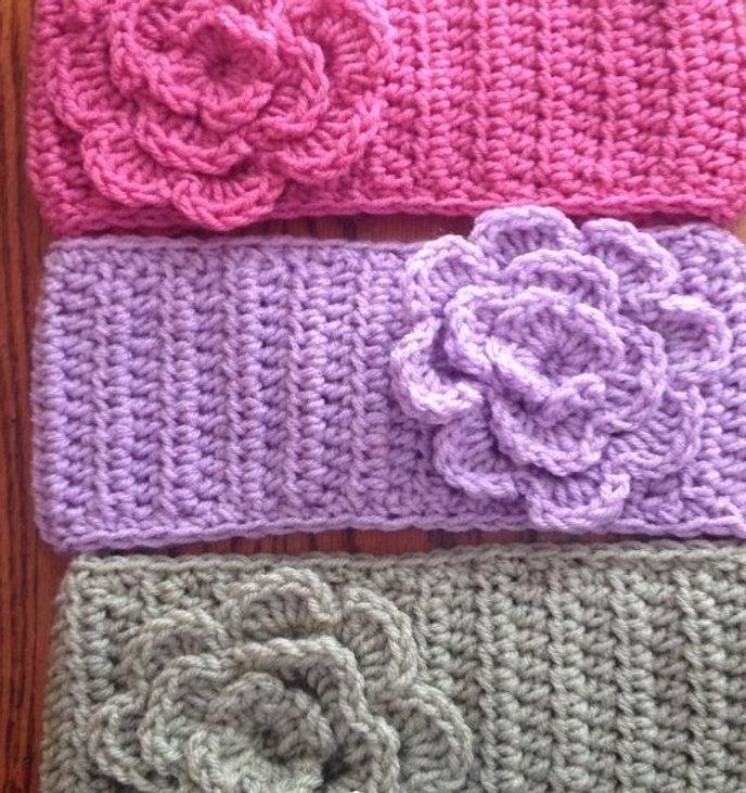 Easy Flower Headbands Free Crochet Patte