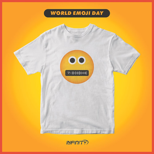 T-shirt 100% cotone World Emoji Day (17/07)