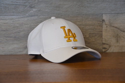 Cappellino NewEra 9FORTY Diamons Era essential Los Angeles Dodgers white/gold