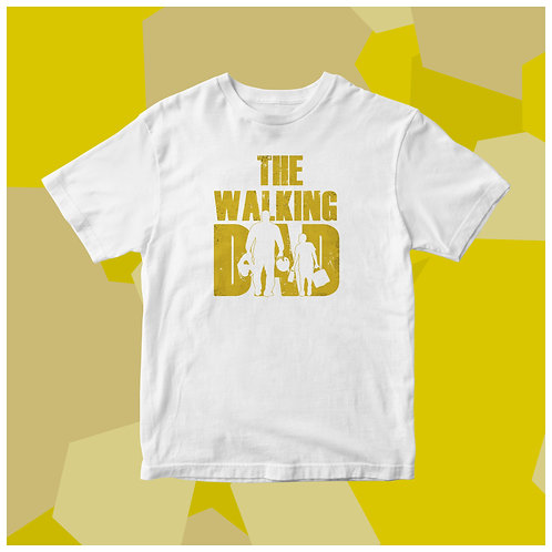 T-shirt 100% cotone The walking dad