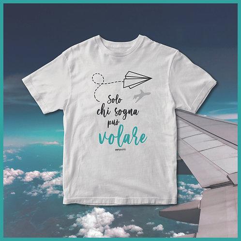 Tshirt 100% cotone PaperAirplane Day (26/05) bianca