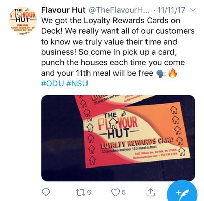Flavour Loyalty Reward Card