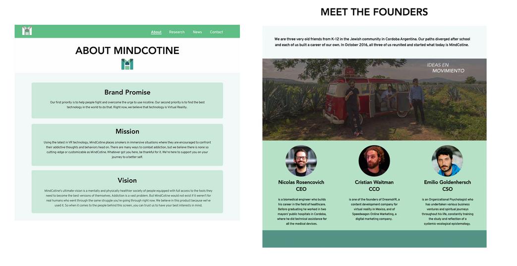 Mindcotine New Landing Page