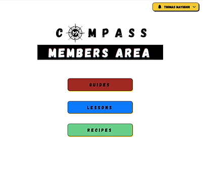 Compass Members Area Screenshot