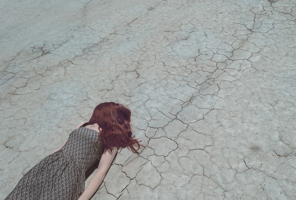 Lady Lying on the Ground