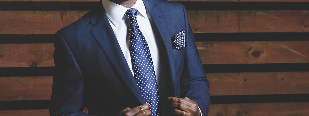 Man in a Blue Suit