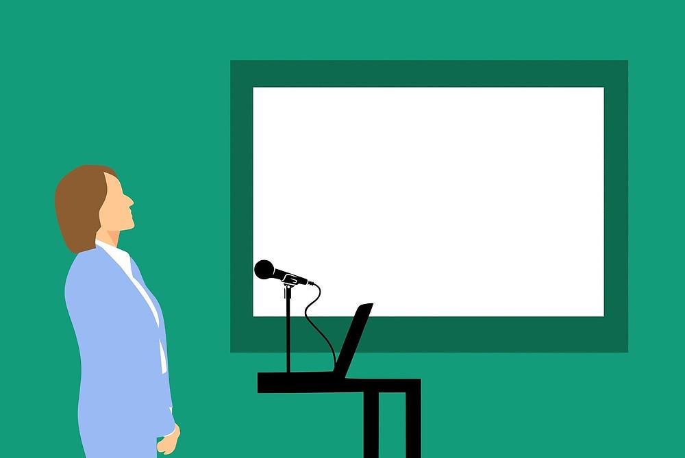 Lady giving a presentation