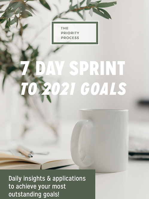 The 7 Day Sprint to 2021 Goals