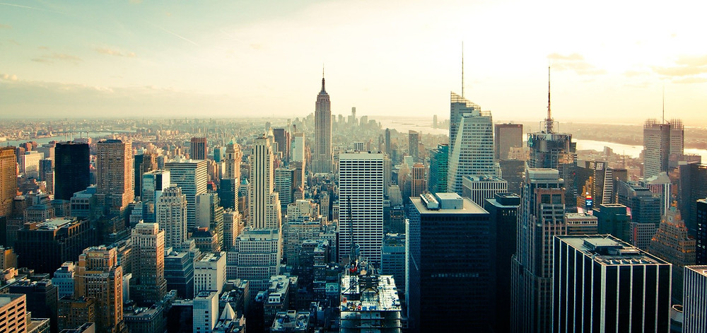 Aerial Shot of Manhattan NY