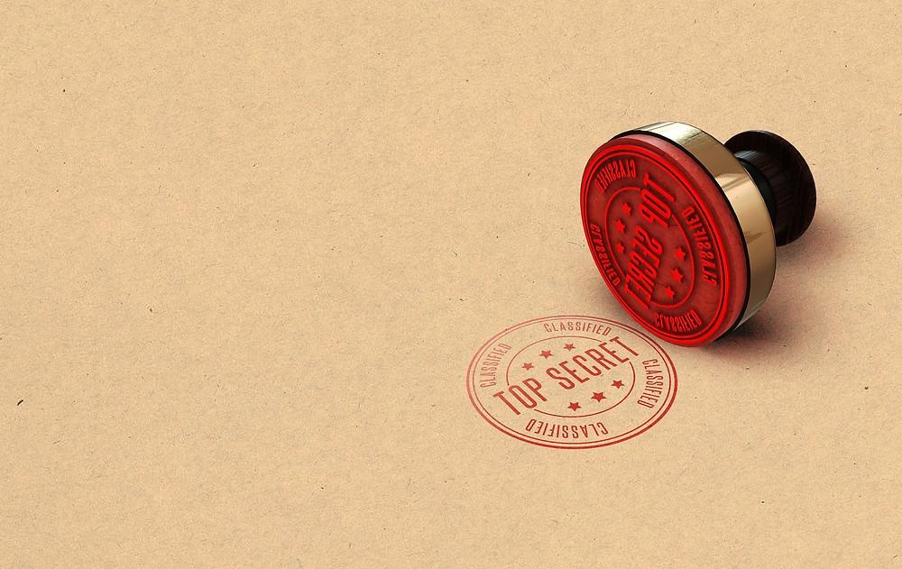 Stamp Printing Top Secret