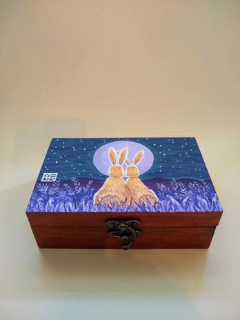 Lavendar Fileds Forever Art Box
