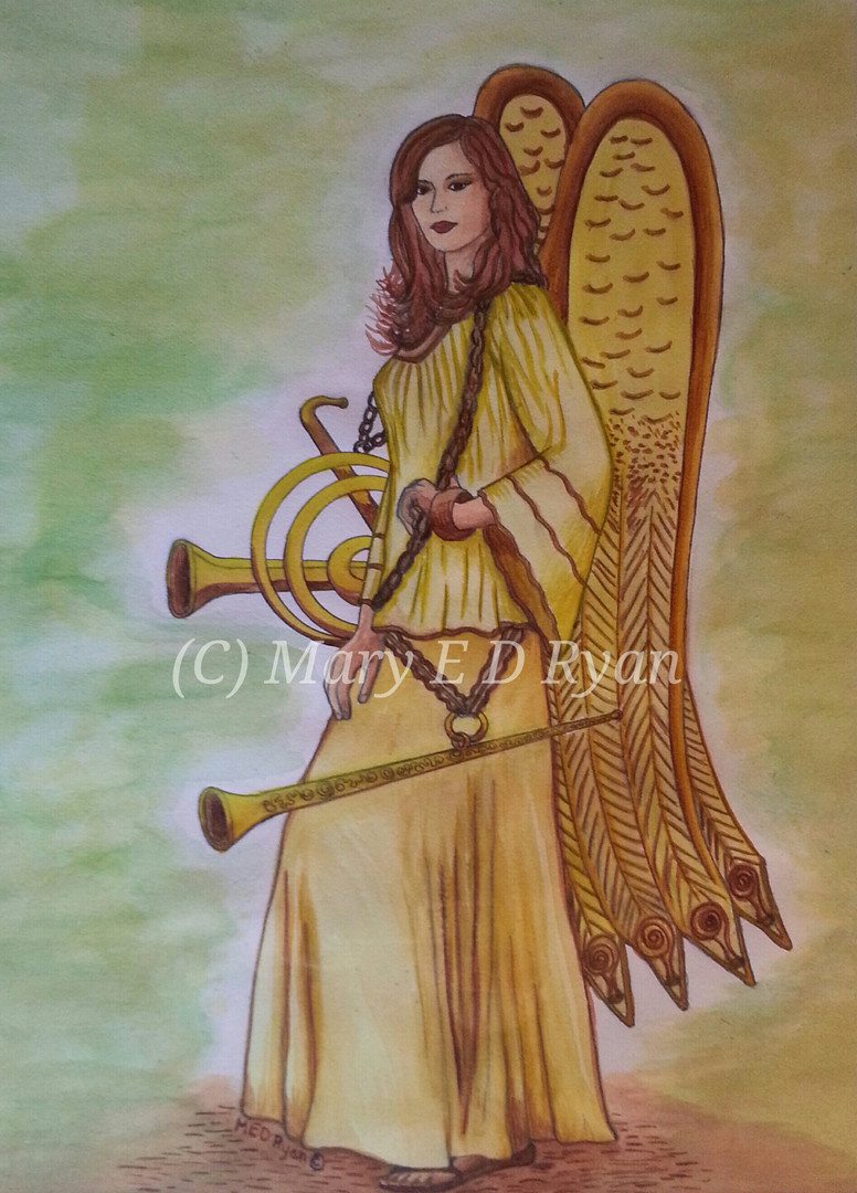 Watercolor Archangel Gabrielle