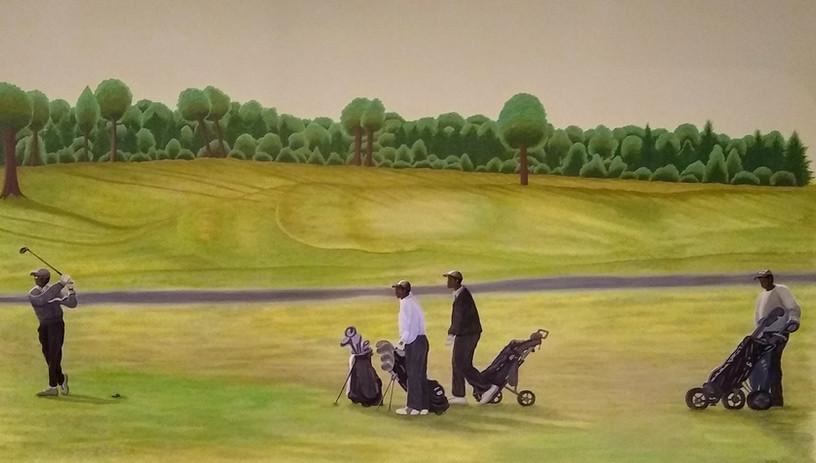Golf Day Mural