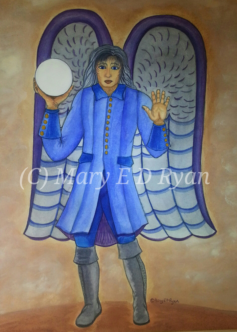 Watercolor Archangel Raphael