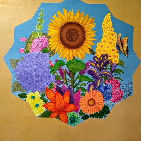 Summer Blooms Mural