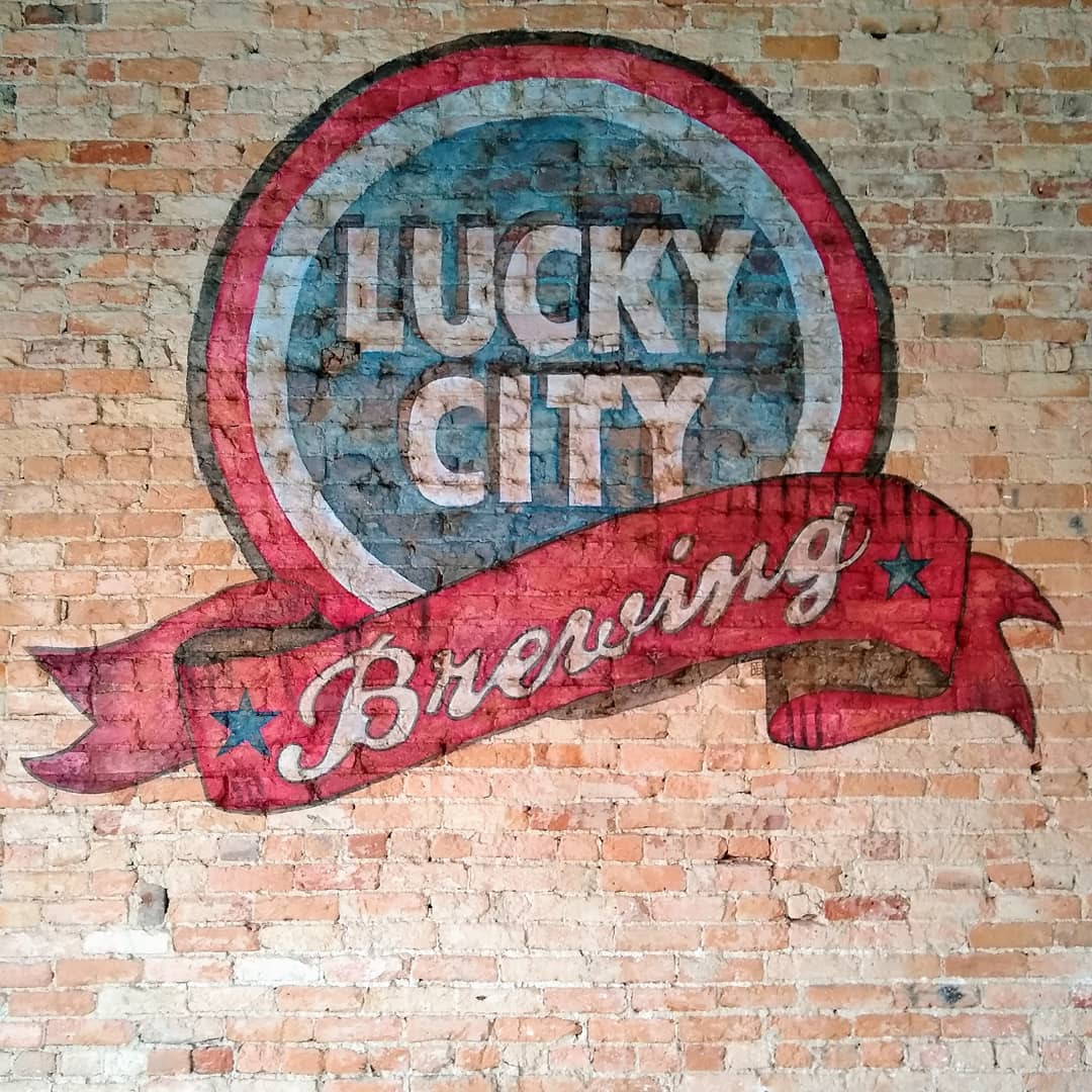 Lucky City Brewing Ghost Sign Mural