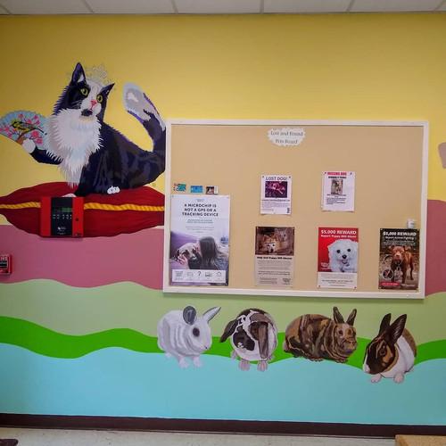 Queen Kitty + Bunny Murals