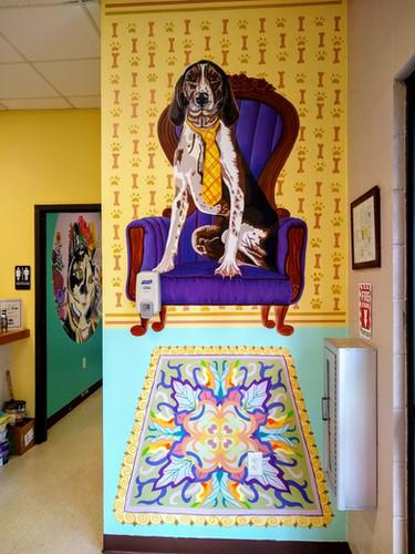 Hooch, Hound Dog Mural