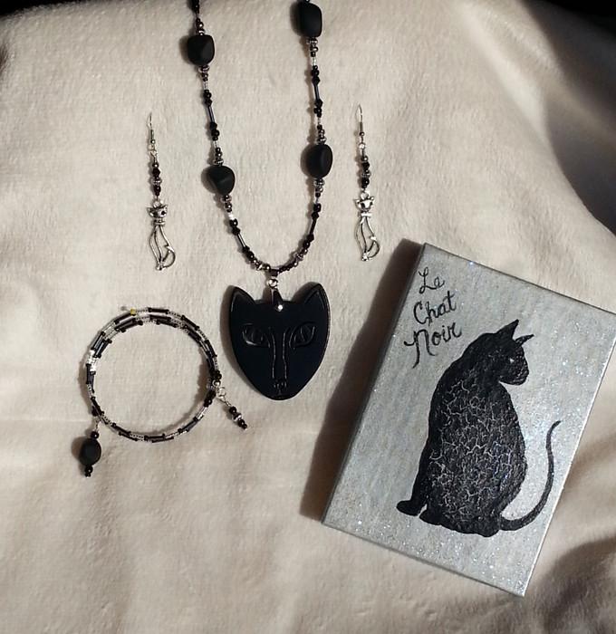 Le Chat Noir Boxed Jewelry Set
