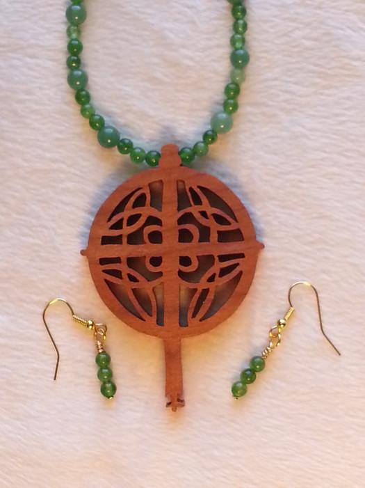 Maple Celtic Cross with Aventurine