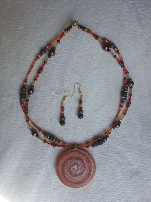 Cinnamon Swirl Jewelry Set