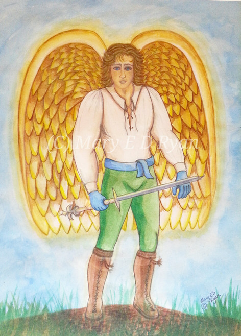 Watercolor Archangel Michael