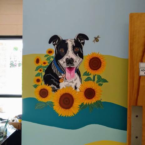 Tasha Mural with sunflowers