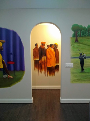 Group of Men full wall view