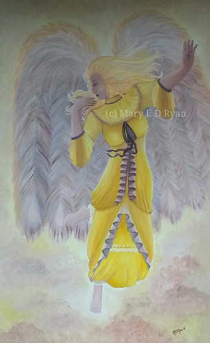Victorian Angel in Yellow